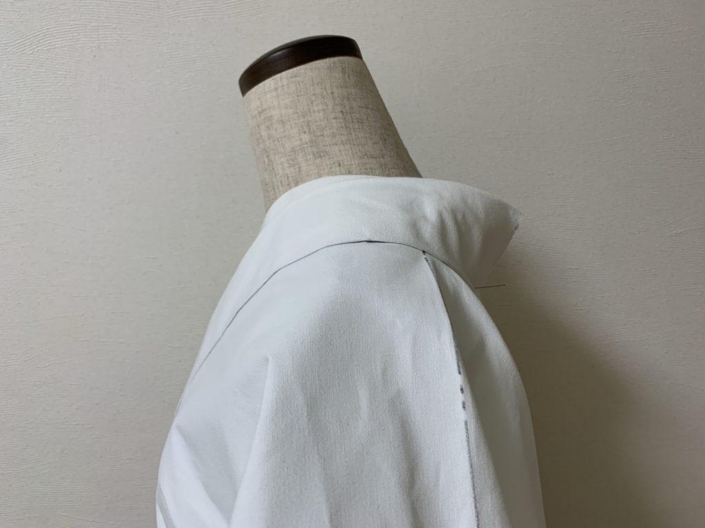帯芯の着物横姿